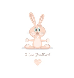pink love rabbit vector image