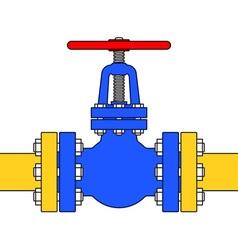 Pipeline valve vector image