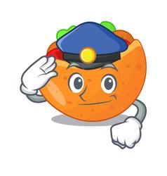 Police falafel in pita in bread cartoon vector