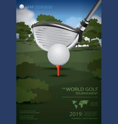 Poster golf champion vector