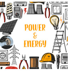 power energy industrial electricity vector image