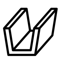 Rogutter icon outline style vector