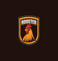 Rooster logo icon template design vector