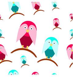 Seamless tileable texture with cartoon birds vector