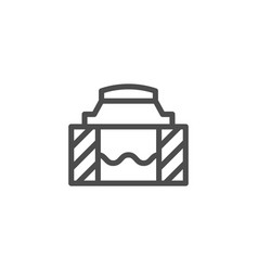 Sewer hatch line icon vector