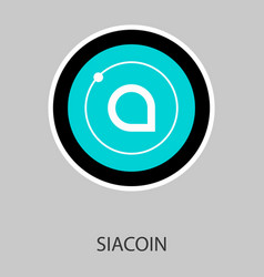 siacoin blockchain cryptocurrency connected vector image