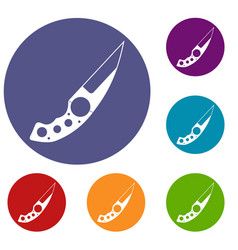 Small knife icons set vector