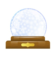 Snow globe with snowflakes vector image