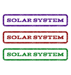 solar system watermark stamp vector image