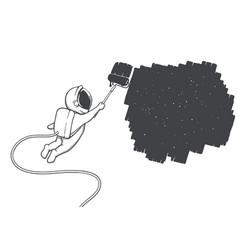 Spaceman artist vector