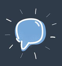 speech bubble object on vector image
