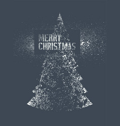 stencil splash style christmas greeting card vector image