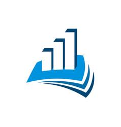Stock exchange finance and advisory logo template vector