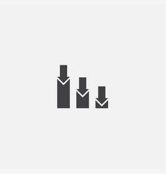 Stock market crash base icon simple sign vector