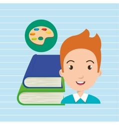 student books school elements vector image
