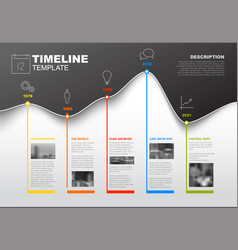 Timeline template with graph vector