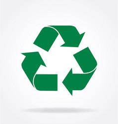 Triangle green recycle logo vector