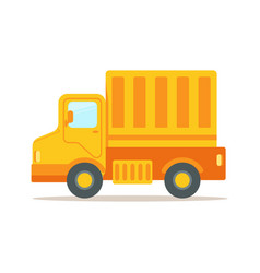truck with cargo container for shipping and vector image