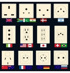 Types of Sockets vector image