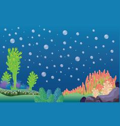 underwater landscape background vector image
