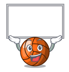 up board volleyball character cartoon style vector image