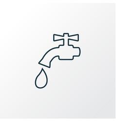 water crane icon line symbol premium quality vector image