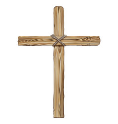 Wooden cross for crucifixion vector