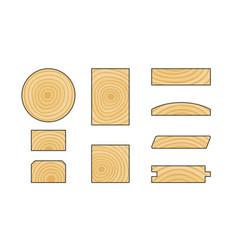 wooden details vector image