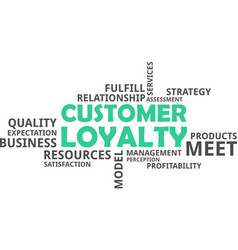 Word cloud - customer loyalty vector