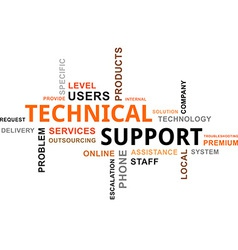 word cloud technical support vector image