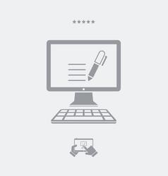 writing application - web icon vector image