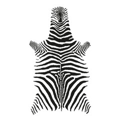 Zebra skin print black and white vector
