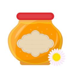 jar of honey icon flat style isolated on white vector image