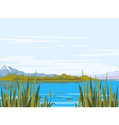 Lake landscape vector