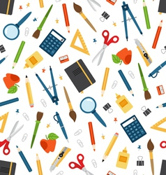 Stationery seamless pattern vector image