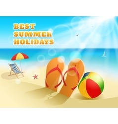 Summer Colored Composition vector image