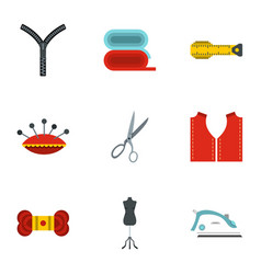 tools and accessories for tailoring icons set vector image vector image