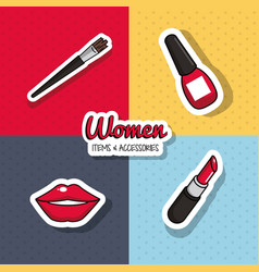 women fashion accesories vector image vector image