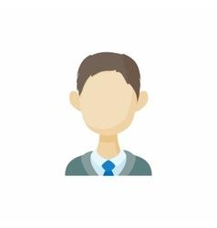 Avatar men brunette icon cartoon style vector image