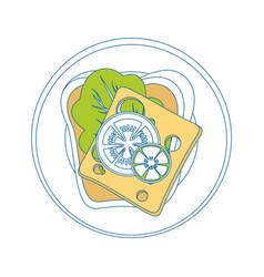 Breakfast food design vector