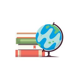 cartoon globe world map on vector image