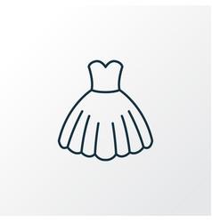 Evening gown outline symbol premium quality vector