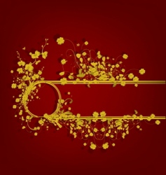 golden vintage design vector image vector image