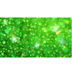 green abstract background of small hexagons vector image vector image
