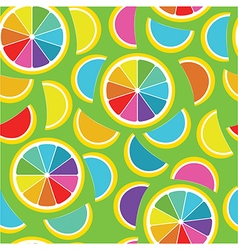 Rainbow lemon seamless background vector