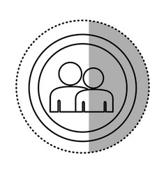 Round symbol people together contact icon vector