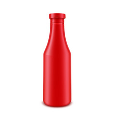 tomato ketchup bottle for branding without label vector image