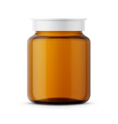 amber glass medicine bottle template vector image vector image