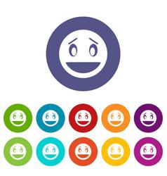 confused emoticon set icons vector image