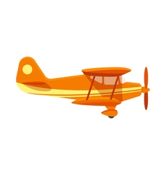 Flat style of plane vector